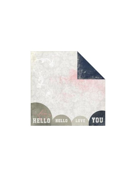 "Glitz Love You Madly Cardstock de doble carar12""X12"", Hello"