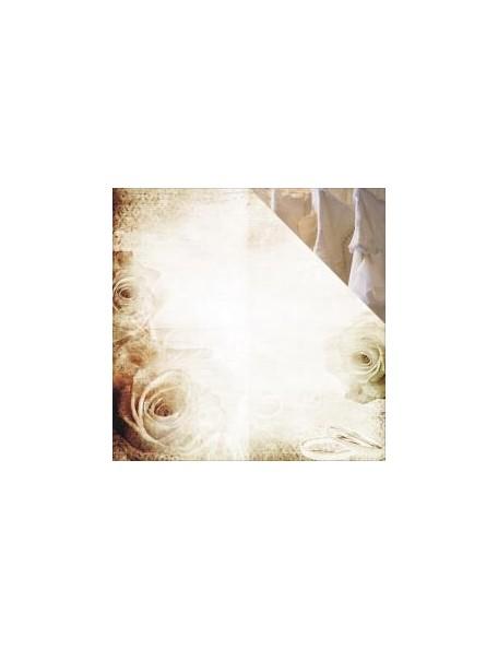 "Reminisce - Wedding Day Cardstock de doble cara 12""X12"", Wedding Lace"