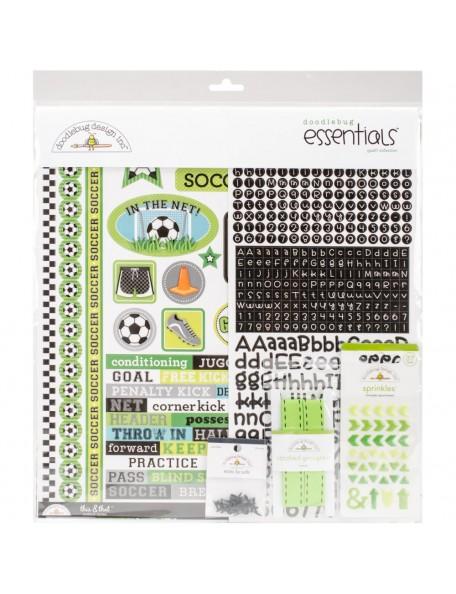"""Doodlebug Essentials Page Kit 12""""X12"""", Goal!!"""