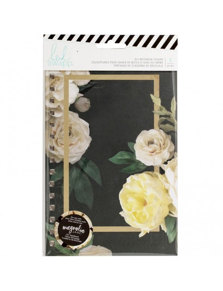 "Heidi Swapp Journal Notebook Covers 8.5""X5.5"" 2 Magnolia Jane Double-Sided Floral"