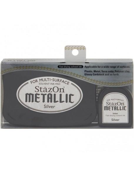 StazOn Metallic Solvent Ink Kit, Silver