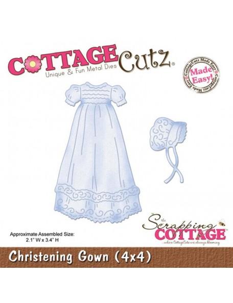 """CottageCutz Vestido de bautizo troquel/Die Christening Gown 2.1""""X3.4"""""""