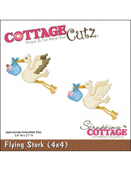 "CottageCutz Die Flying Stork 3.4""X2.7"""