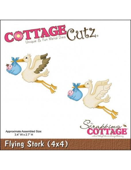 """CottageCutz Troquel Cigüeña voladora 3.4""""X2.7"""""""