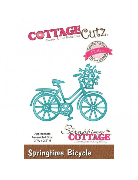 "CottageCutz Die Springtime Bicycle 3""X2.2"""
