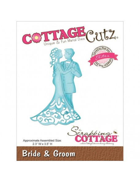 "CottageCutz Elites Die Bride & Groom 2.3""X3.5"""