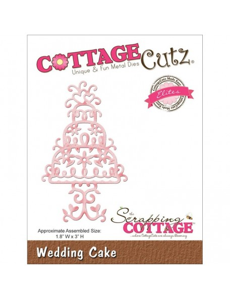 """CottageCutz Elites Troquel Pastel de Bodas 1.8""""X3"""""""