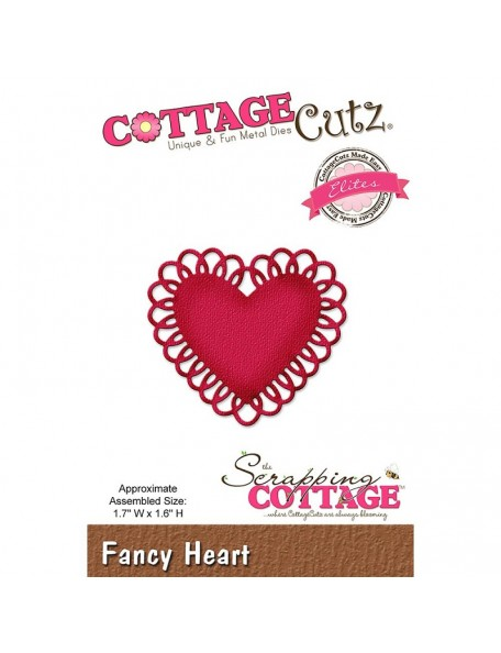 "CottageCutz Die Elites Fancy Heart, 1.7""X1.6"""