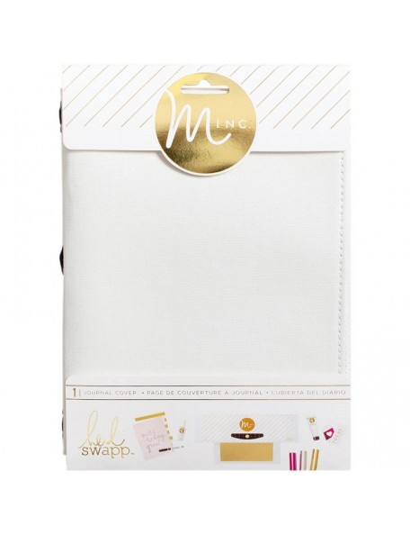 "Heidi Swapp Minc Journal Cover 6""X9"" White Canvas"