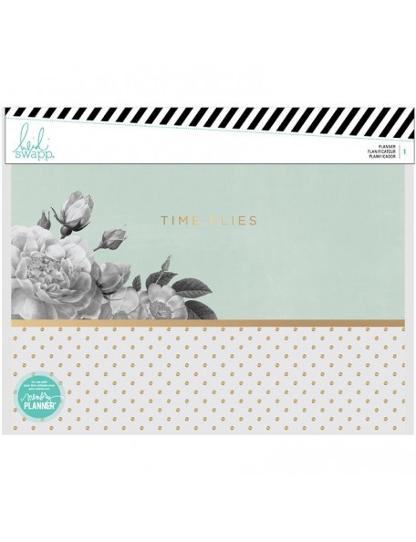 Heidi Swapp Horizontal Memory Planner Spiral Bound -Time Flies