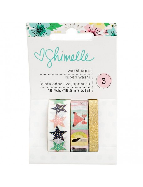 American Crafts Shimelle Little By Little Washi Tape 3/Pkg