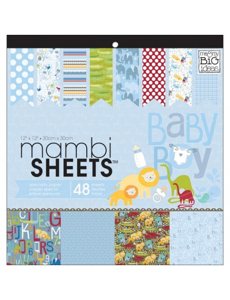 "MAMBI Specialty Cardstock Pad 12""X12"" 48/Pkg"