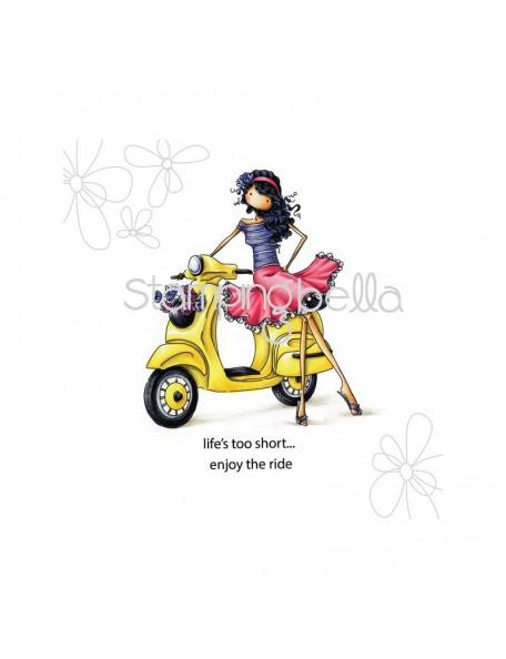Stamping Bella - Uptown Girl Vienna & Her Vespa Sello