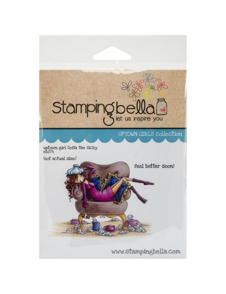 "Stamping Bella Cling Stamp 6.5""X4.5"" Uptown Girl Sophia Is A Sicky"