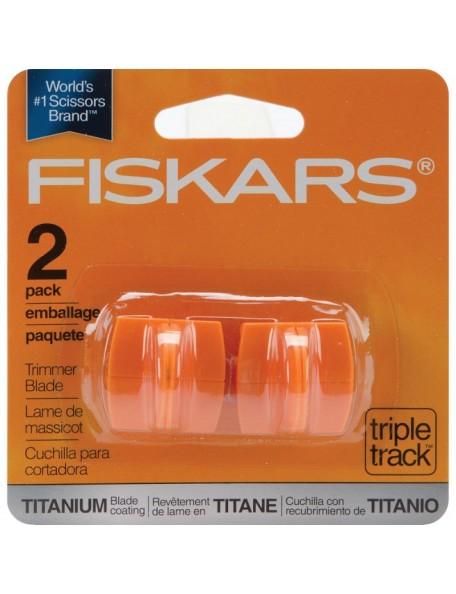 Fiskars TripleTrack High-Profile Titanium Blades 2, Straight, Style I