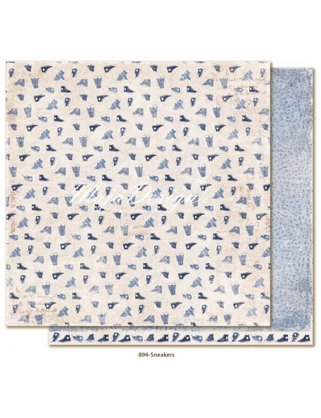 "Maja Design - Denim and Friends Cardstock de doble cara 12""X12"", Sneakers"