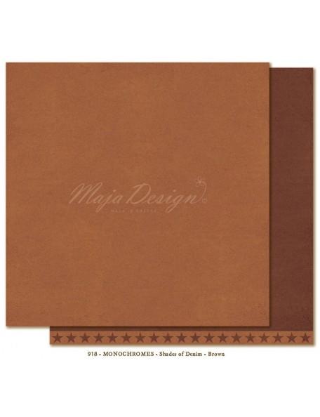 "Maja Design Shades of Denim Cardstock de doble cara 12""X12"", Monochromes brown"