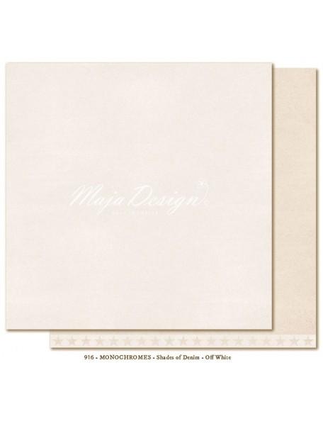 "Maja Design Shades of Denim Cardstock de doble cara 12""X12"", Monochromes Off white"