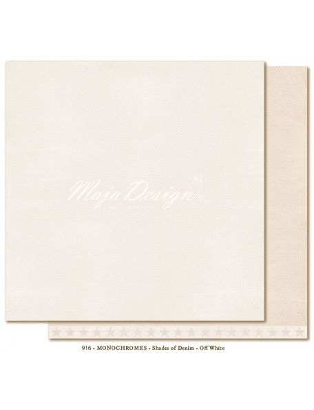 "Maja Design Shades of Denim Cardstock de doble cara 12""X12"", Monochromes Off white"