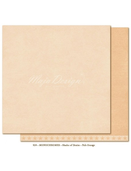 "Maja Design - Monochromes, Shades of Denim Cardstock de doble cara 12""X12"", Pale Orange"