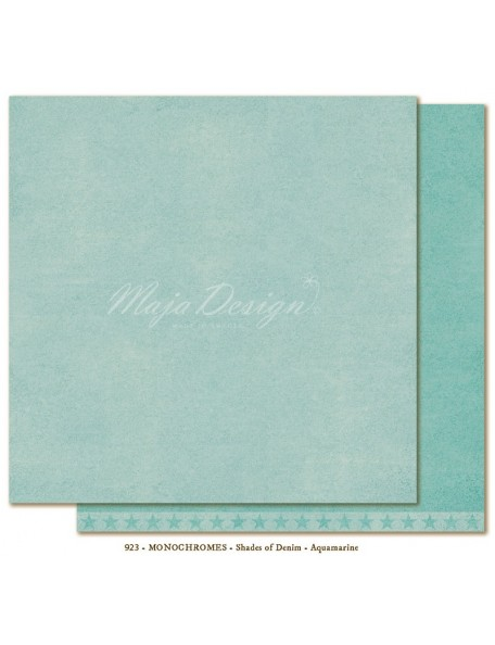 "Maja Design - Monochromes, Shades of Denim Cardstock de doble cara 12""X12"", Aquamarine"
