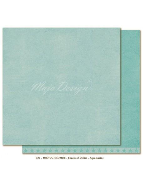 "Maja Design Shades of Denim Cardstock de doble cara 12""X12"", Monochromes Aquamarine"