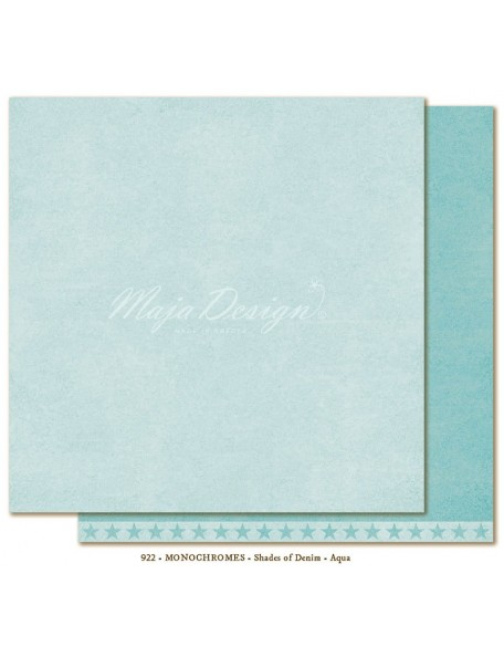"Maja Design Shades of Denim Cardstock de doble cara 12""X12"", Monochromes Aqua"