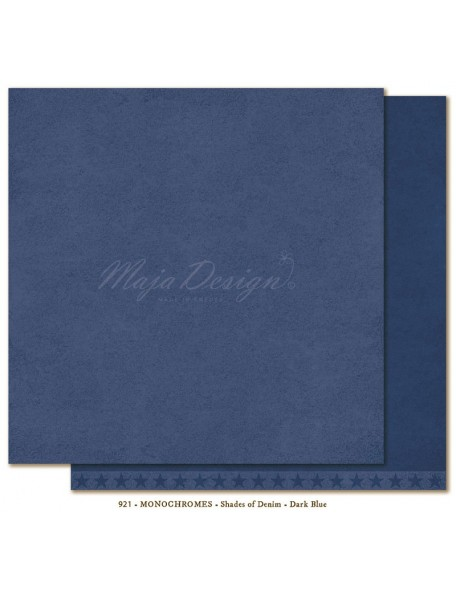 "Maja Design - Monochromes, Shades of Denim Cardstock de doble cara 12""X12"", Dark Blue"