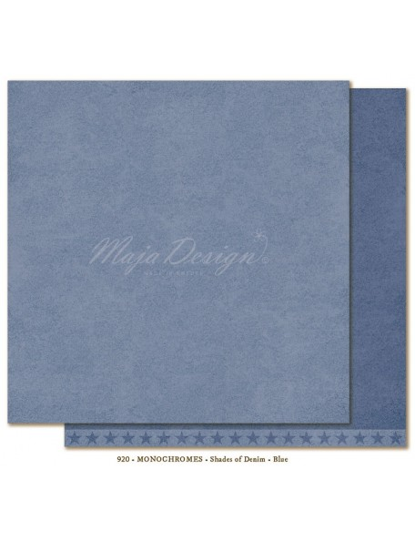 "Maja Design Shades of Denim Cardstock de doble cara 12""X12"", Monochromes Blue"
