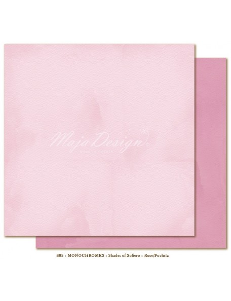 "Maja Design Shades of Sofiero Cardstock de doble cara 12""X12"", Monochromes Rose-Fuchsia"