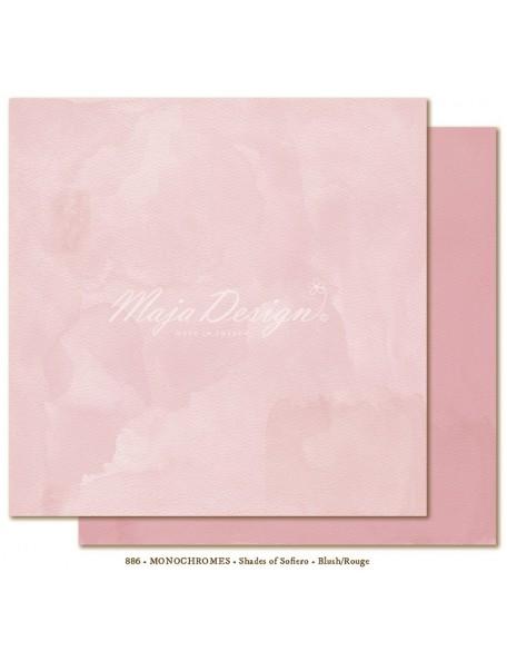 "Maja Design Shades of Sofiero Cardstock de doble cara 12""X12"", Monochromes Blush-Rouge"