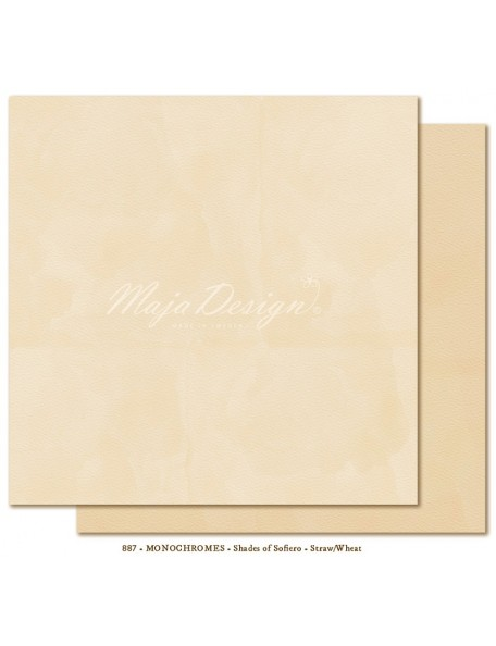 "Maja Design - Monochromes, Shades of Sofiero Cardstock de doble cara 12""X12"", Straw-Wheat"