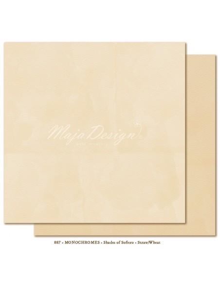 "Maja Design - Monochromes, Shades of Sofiero Cardstock de doble cara 12""X12"", Straw-Wheat"