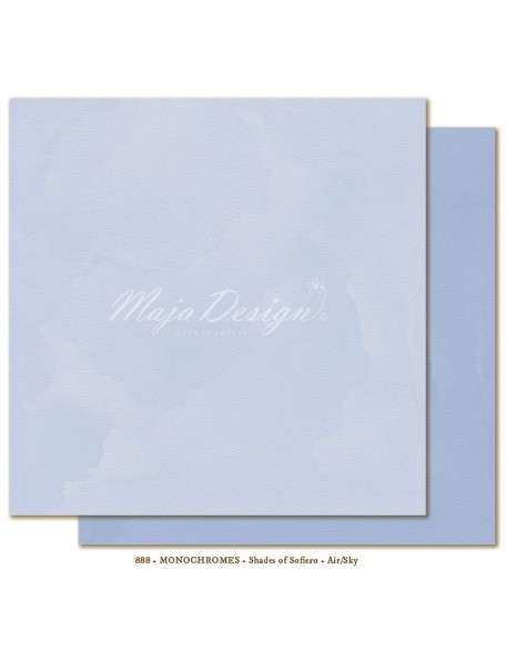 "Maja Design - Monochromes, Shades of Sofiero Cardstock de doble cara 12""X12"", Air-Sky"