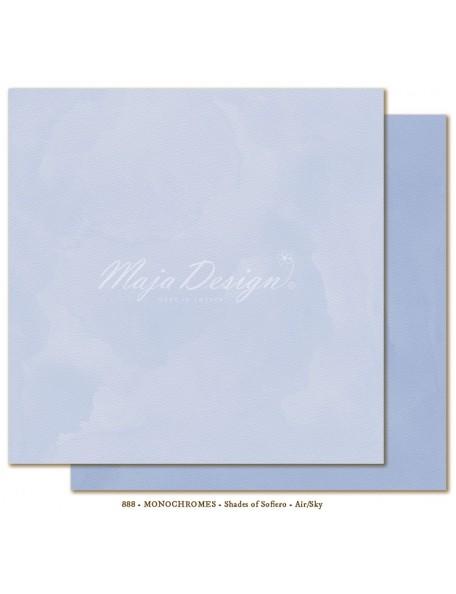 """Maja Design Shades of Sofiero Cardstock de doble cara 12""""X12"""", Monochromes Air-Sky"""