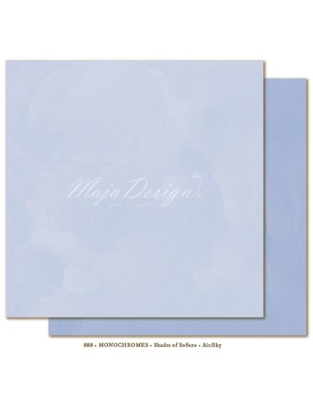 """Maja Design - Monochromes, Shades of Sofiero Cardstock de doble cara 12""""X12"""", Air-Sky"""
