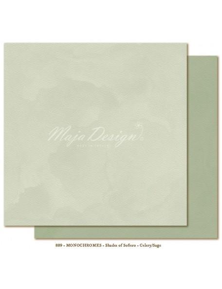 "Maja Design - Monochromes, Shades of Sofiero Cardstock de doble cara 12""X12"", Celery-Sage"