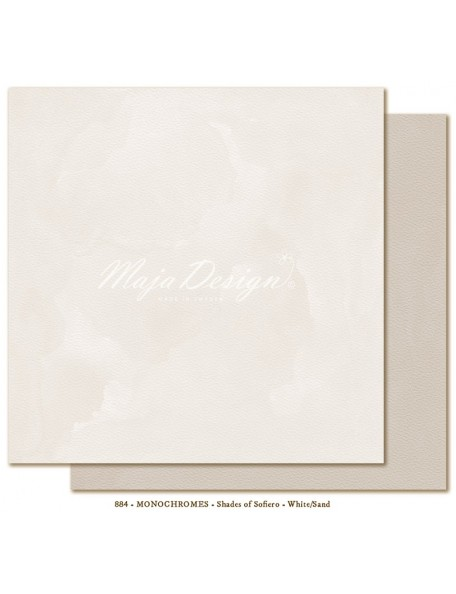 "Maja Design - Monochromes, Shades of Sofiero Cardstock de doble cara 12""X12"", White-Sand"