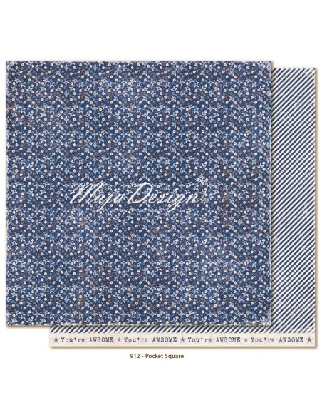 "Maja Design Denim and Friends Cardstock de doble cara 12""X12"", Pocket Square"