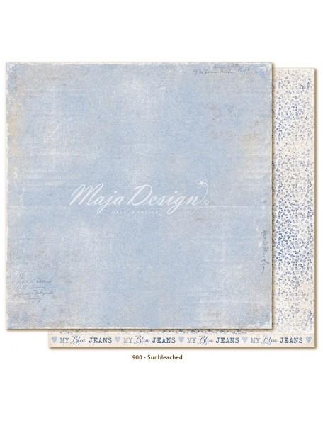 """Maja Design Denim and Friends Cardstock de doble cara 12""""X12"""", Sunbleached"""
