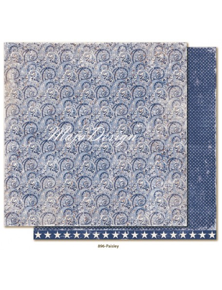"Maja Design Denim and Friends Cardstock de doble cara 12""X12"", Paisley DESCATALOGADO"