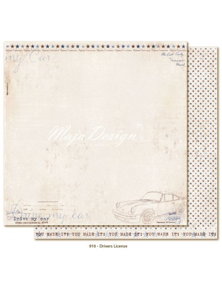 "Maja Design - Denim and Friends Cardstock de doble cara 12""X12"", Driver License"