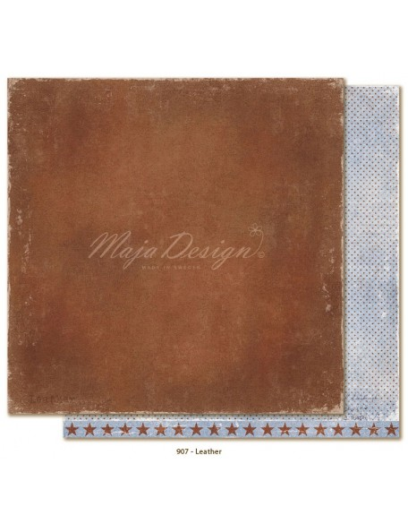 "Maja Design Denim and Friends Cardstock de doble cara 12""X12"", Leather"