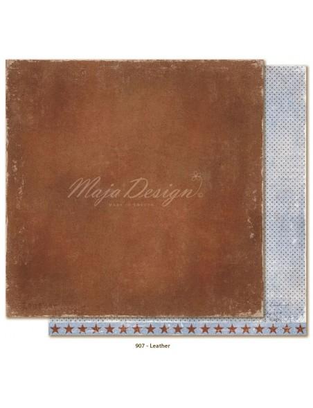 """Maja Design - Denim and Friends Cardstock de doble cara 12""""X12"""", Leather"""