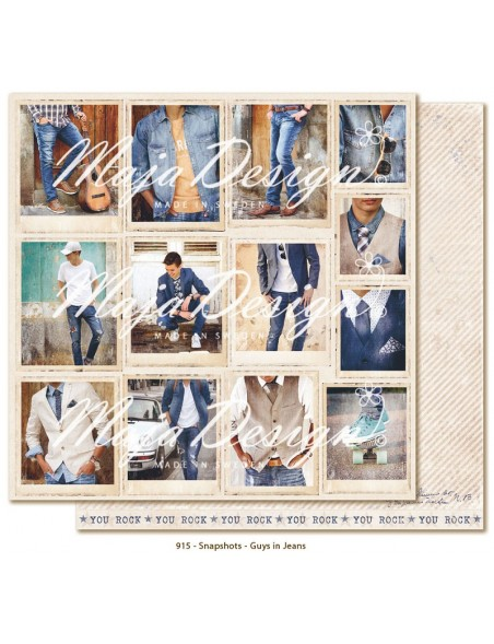 "Maja Design Denim and Friends Cardstock de doble cara 12""X12"", Snapshots"