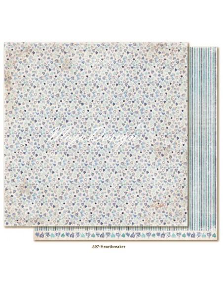 "Maja Design - Denim and Friends Cardstock de doble cara 12""X12"", Heartbreaker"