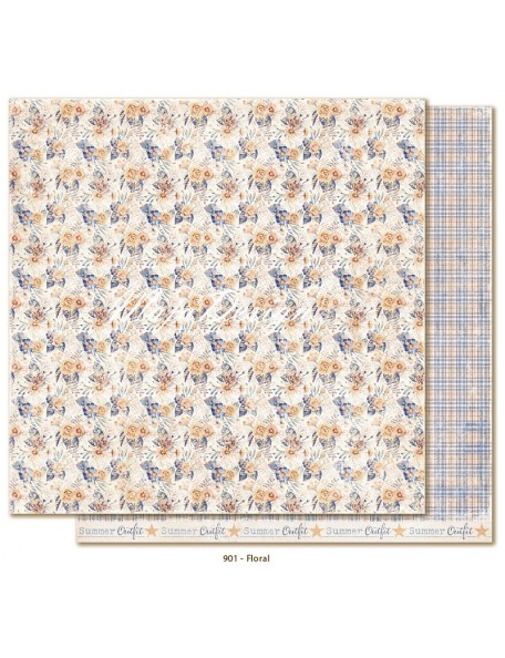 "Maja Design Denim and Friends Cardstock de doble cara 12""X12"", Floral"