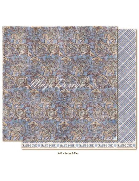 "Maja Design - Denim and Friends Cardstock de doble cara 12""X12"", Jeans&Tie"