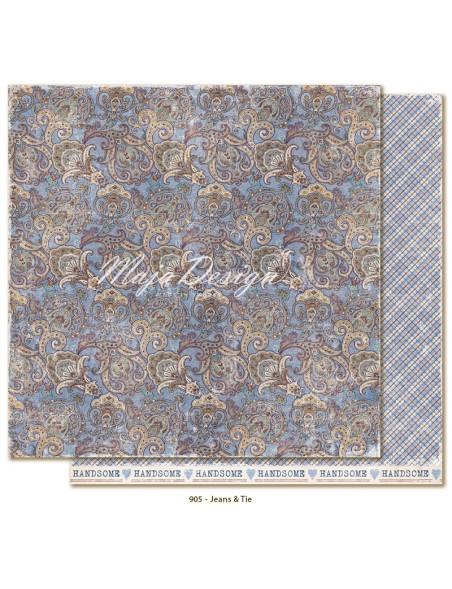 "Maja Design Denim and Friends Cardstock de doble cara 12""X12"", Jeans&Tie"
