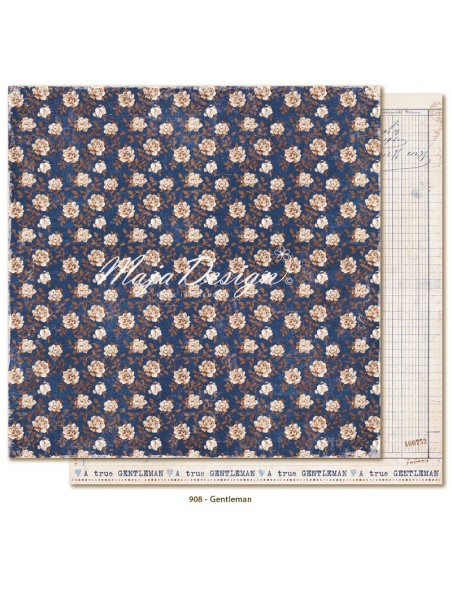 "Maja Design - Denim and Friends Cardstock de doble cara 12""X12"", Gentleman"